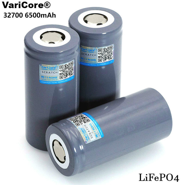 VariCore 3.2V 32700 6500mAh LiFePO4 Battery 35A Continuous Discharge Maximum 55A High power battery