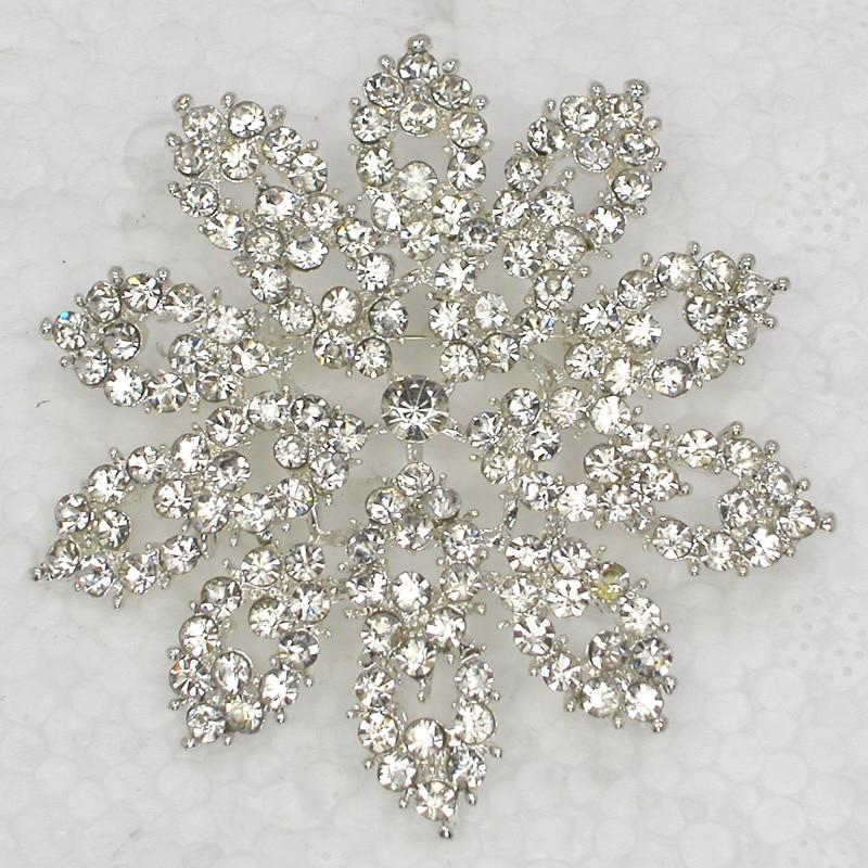 12pcs lot Wholesale Fashion brooch Rhinestone Flower Pin brooches Wedding Party jewelry gift C102077