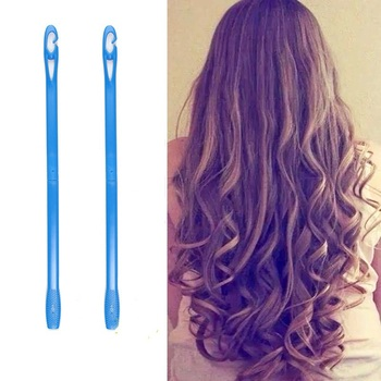18/20pcs 20/45/55/65cm Plastic Hair Curlers with Sticker Hook Long Magic Hair Curler Magic Hair Roller Spiral Curls Easy Usage