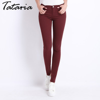 Jeans Female Denim Pants Candy Color Womens Jeans Donna Stretch Bottoms Feminino Skinny Pants For Women
