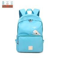 AORDA Women Backpack Korea High Quality Nylon Waterproof Candy Blue College Shoulder Bag Sweet Girl Traveling