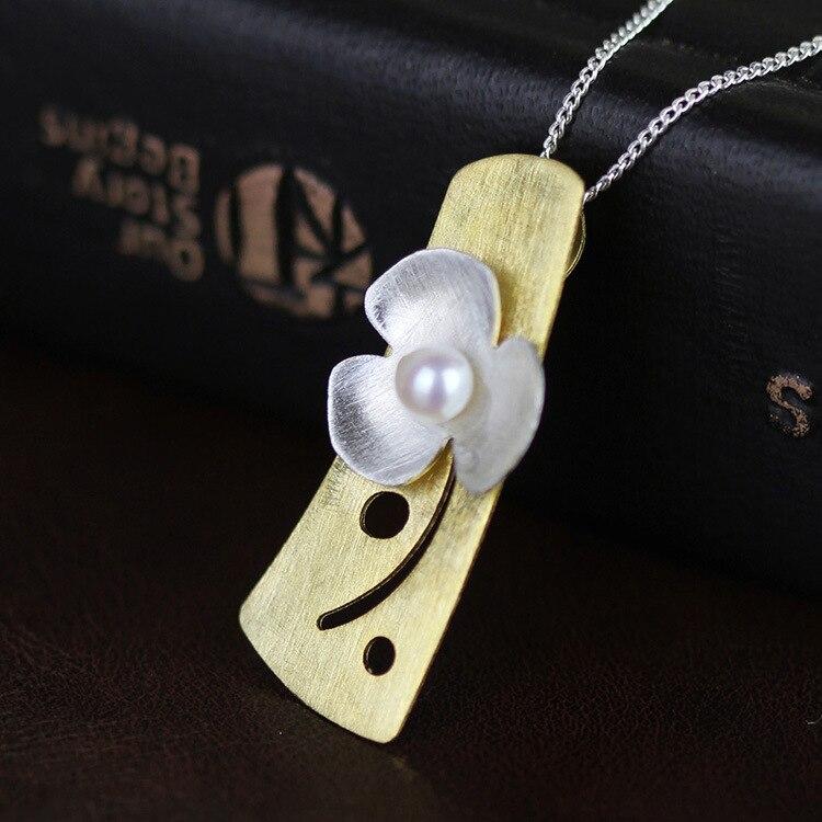 f5af9eb59 Atacado 925 de prata cheio de pingente de flor com cadeia de jóias por  atacado fabricantes