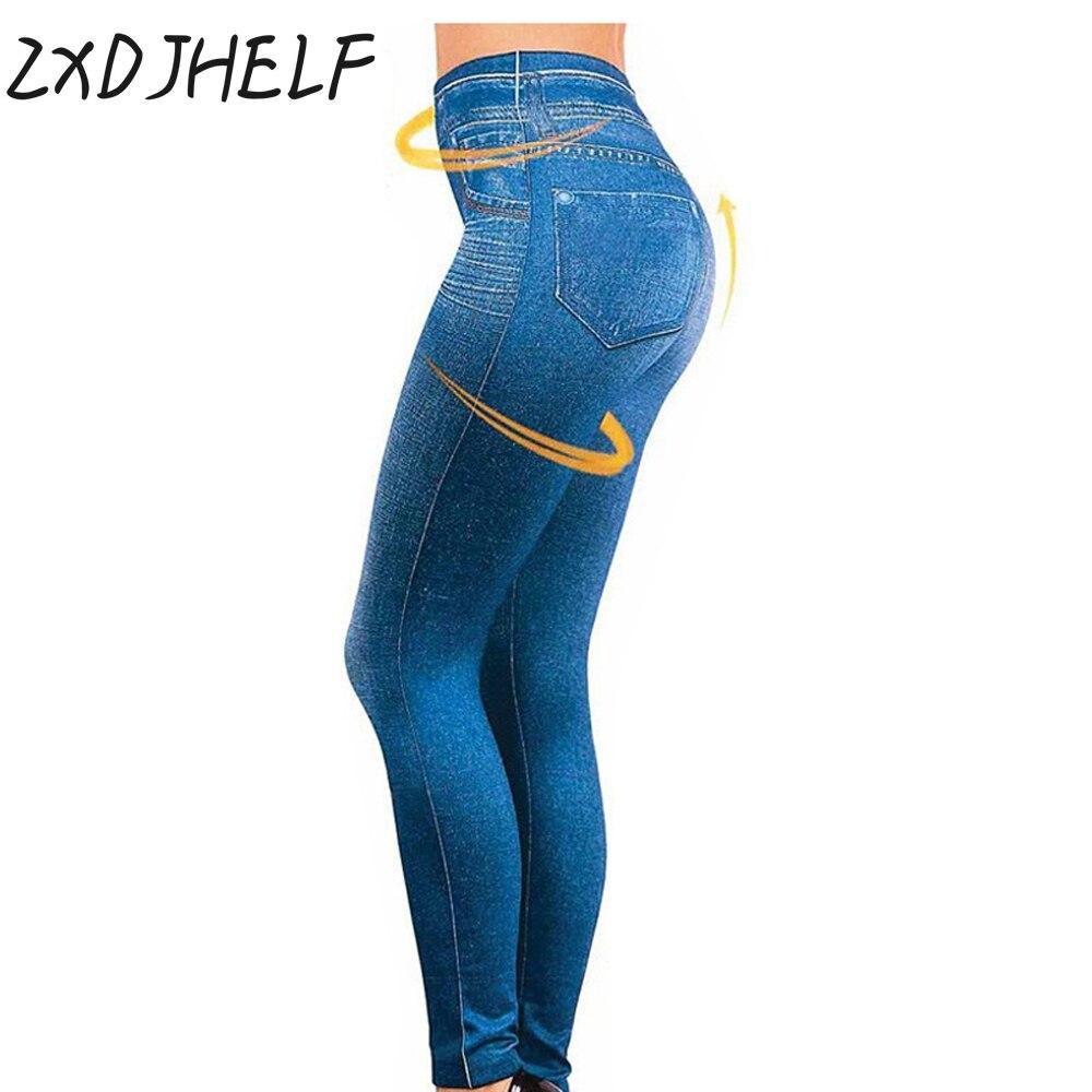 ZXDJHELF XL/XXL Women Fleece Lined Winter JeggingHot Sale Genie Slim Fashion Jeggings Leggings With Two Real Pockets C012