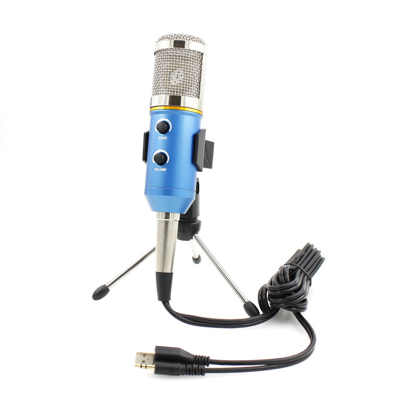 MK-F200FL Condenser Microphone Professional Wired System Desktop New USB Microphones For Computer Karaoke Video Recording