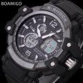 men sport watches LED digital watches military analog quartz watch rubber BOAMIGO brand gift clock 50M waterproof reloj hombre