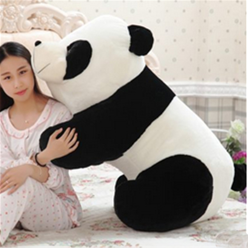 1pc Oversize Huge 90cm Funny Stuffed Plush  Panda Toy Giant Cute Filling Cartoon Animal Panda Doll Nice Gift and Decoration 40cm super cute plush toy panda doll pets panda panda pillow feather cotton as a gift to the children and friends