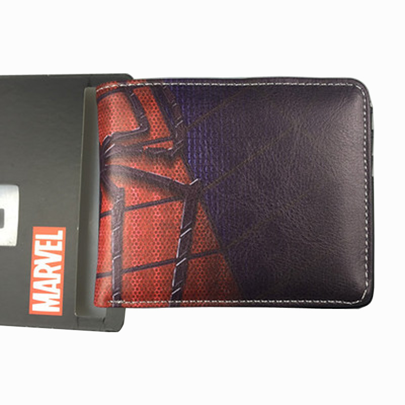 comics-dc-font-b-marvel-b-font-wallets-spider-man-leather-purse-short-wallet-leisure-creative-gift-clutch-bag-billetera-hombre-45-inch