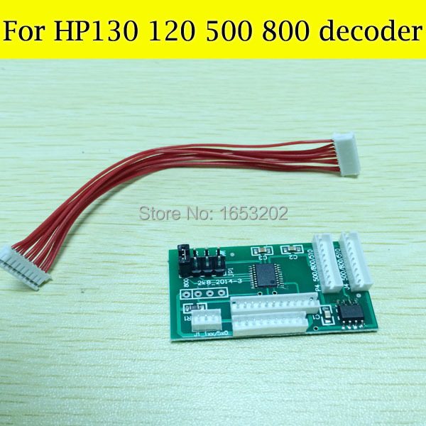 wholesale Price 1 PC Chip Decoder For HP 10 11 82 84 85 For HP 500 800 130 Printer good quality free shipping for hp 500 800 120 130 90 100 cartridge chip decoder
