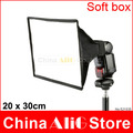 Camera Flash Diffuser SoftBox 20 x 30cm Foldable Speedlite Fits For 600ex 580ex 430ex Yongnuo 560II sbB900 sb600 Universal