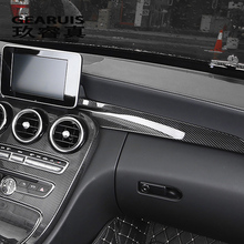 Car Styling Carbon fiber Center Console Air outlet Dashboard Covers Stickers For Mercedes Benz C Class W205 GLC X253 Accessories