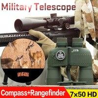 Tactical Military Binocular Compass Rangefinder 7x50 HD Telescope Green Color PP3 0043