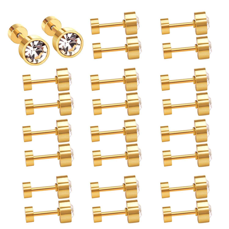 LUXUKISSKIDS  Jewelry Earrings Screw Back Earrings For Women Gift CZ Earings Fashion Jewelry kids Gold Christmas Earrings Set