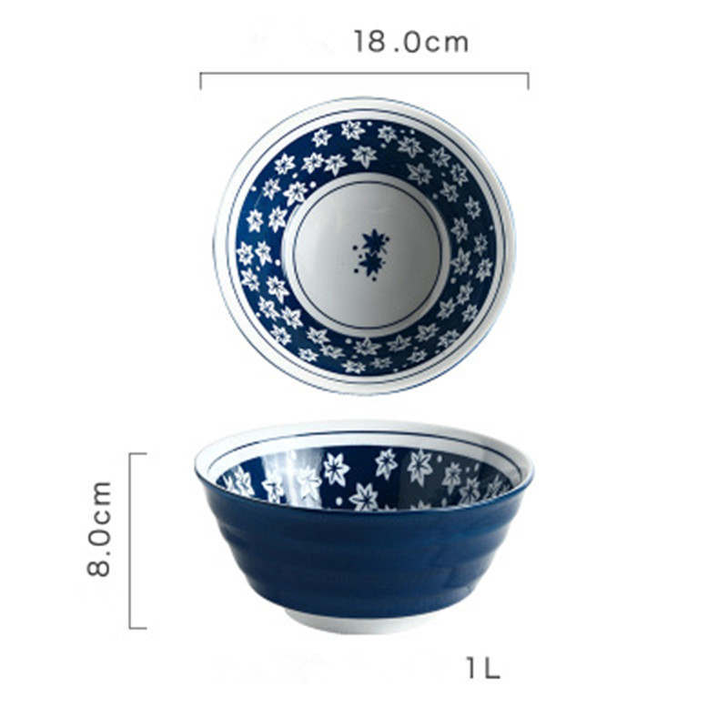 Ceramic Noodle Bowl Ramen Restaurant ceramics Dish  Rice Fruit Soup Kitchen Tableware