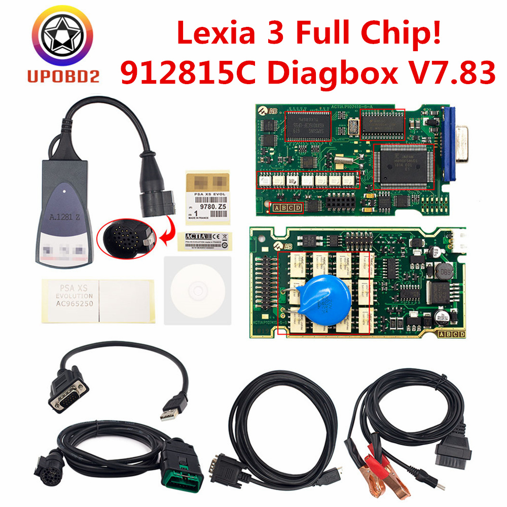 Full Chip Lexia 3 Car Diagnostic Scan Tool FW 921815C Diagbox V7.83 Lexia-3 V48/V45 PP2000 OBD2 OBDI Scanner For Citroen/Peugeot