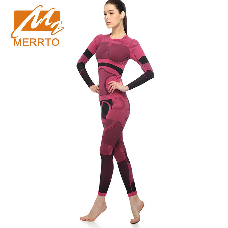 MERRTO Yoga Sets Running Set Quick Dry Women Trucksuit Long Sleeve Workout Sports Compression High QualityTights Gym Clothing life on track men s compression riding underwear set long sleeve suit workout bicycle clothing set