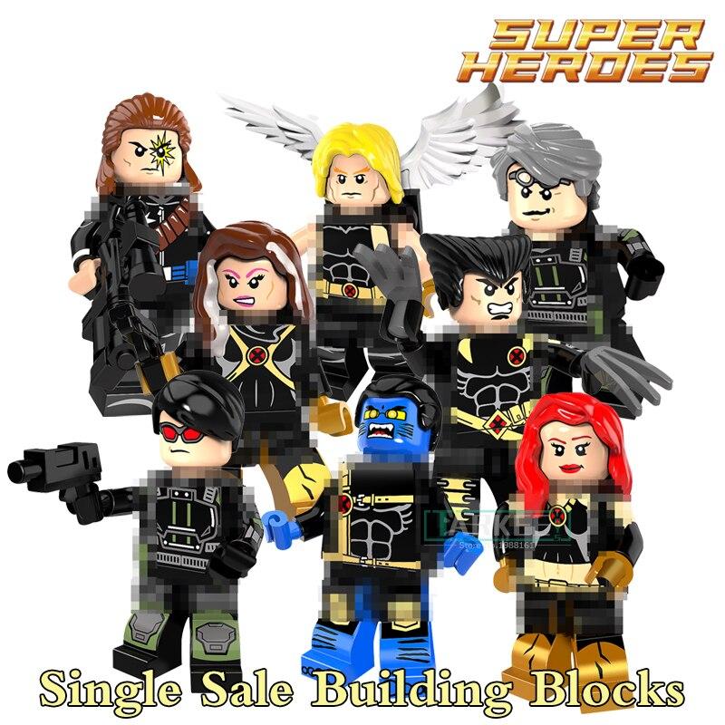 8 stlyes Single Building Blocks Longshot Ultimate Angel Wolverine Rogue Jean Grey Beast Quicksilver Kids DIY Figure Brick PG8098 quicksilver aktiv cabin 510 бу в финляндии