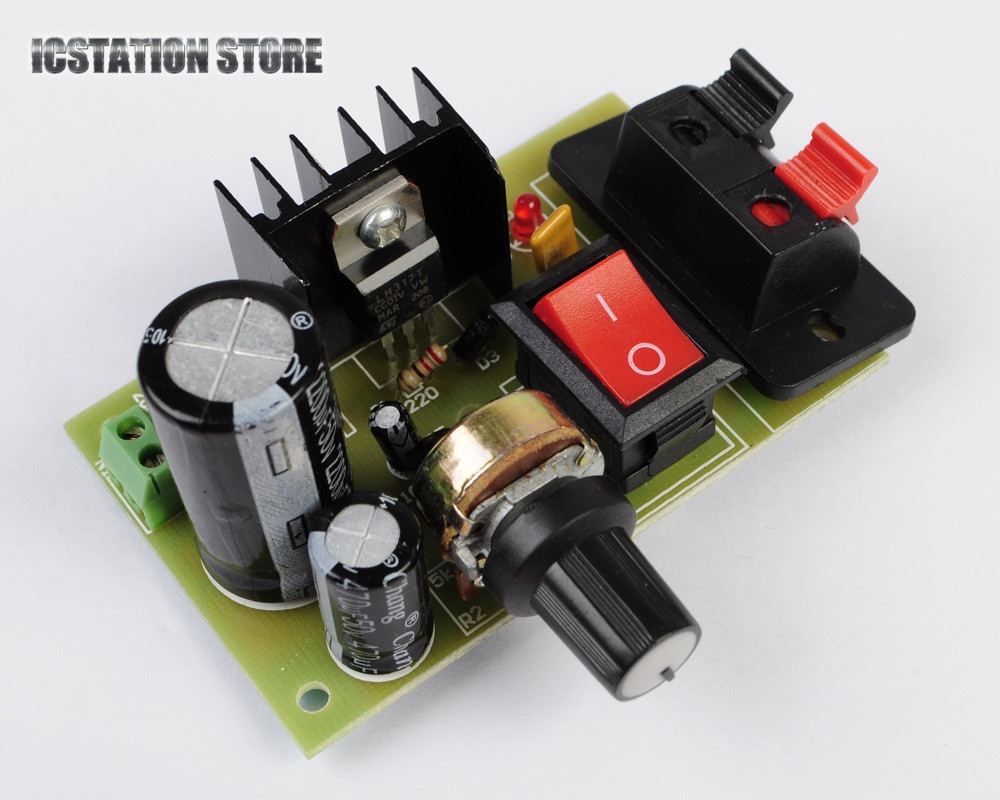 LM317 Adjustable AC DC to DC Voltage Regulator Step Down Power Supply Buck Converter Module Kit 5-35V to 1.25-30V for newbies dc 3 2 40v to dc 1 2 35v 3a auto step down lm2596s converter voltage regulator black