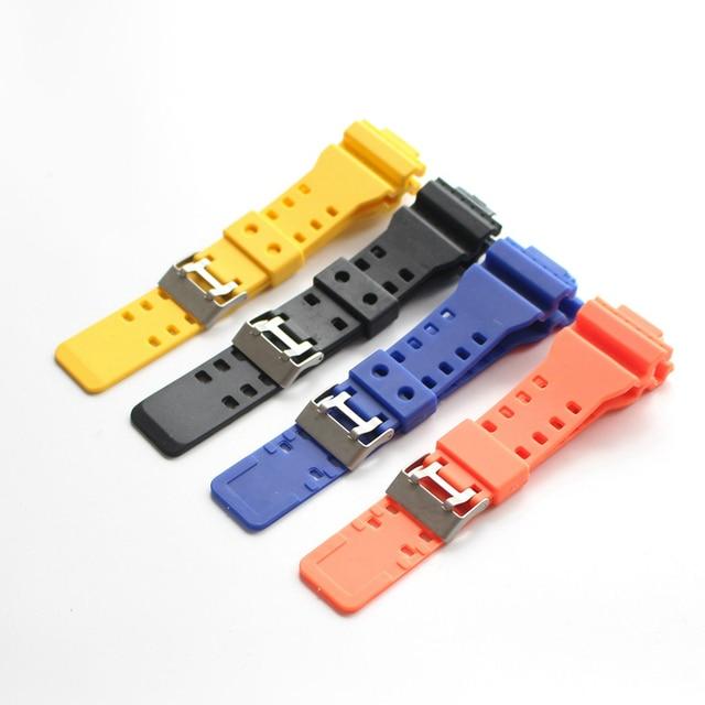 6fdb6e4286d S TJP Original 16mm Negro Azul amarillo naranja de correas de ajuste para  g-shock