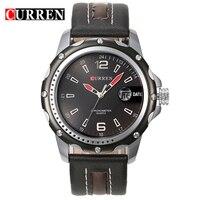 Men Sports Quartz Watch CURREN 8104 Analog Steel Case Hardlex Wristwatch Cycling Auto Date