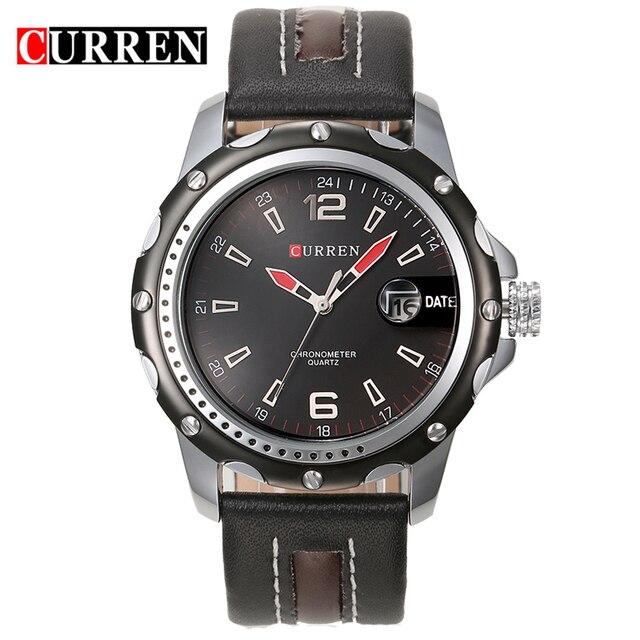 afa1f73f1cd CURREN 8104 Esportes Homens relogio masculino Moda Relógios Quartz Hour  Data dos homens Relógio Mens Relógios