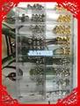 O Envio gratuito de 1 Conjunto de Aço Inoxidável de Ouro e Prata Coroas Assistir + Relógio de Tubos para o Reparo do Relógio