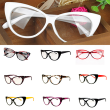 Monturas para gafas de gato para mujer, gafas Retro sexis a rayas, gafas clásicas para mujer, monturas transparentes, gafas de marca de diseñador