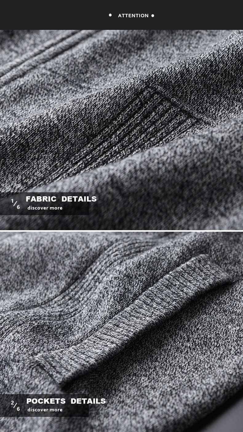 Minglu пряжа окрашенный серый свитер мужской 100% хлопок, воротник-стойка компьютерный вязаный кардиган мужской осенне-зимний облегающий свитер мужской