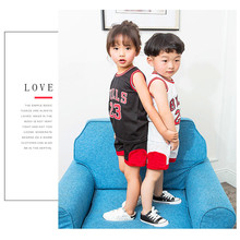 Здесь можно купить   Free Shipping 2018 New Baby Boys Girls Sport Jersey Kids Basketball Jersey Summer Short Sleeved Letter Pattern Children Suits Children