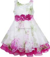 Girls Dress Tulle Bridal Lace With Flower Detailing Wedding 4 14