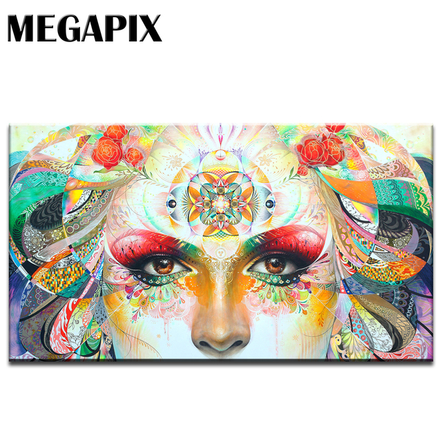 MEGAPIX Frameless HD Splendid Colorful Canvas Printing Fine Art Wall ...