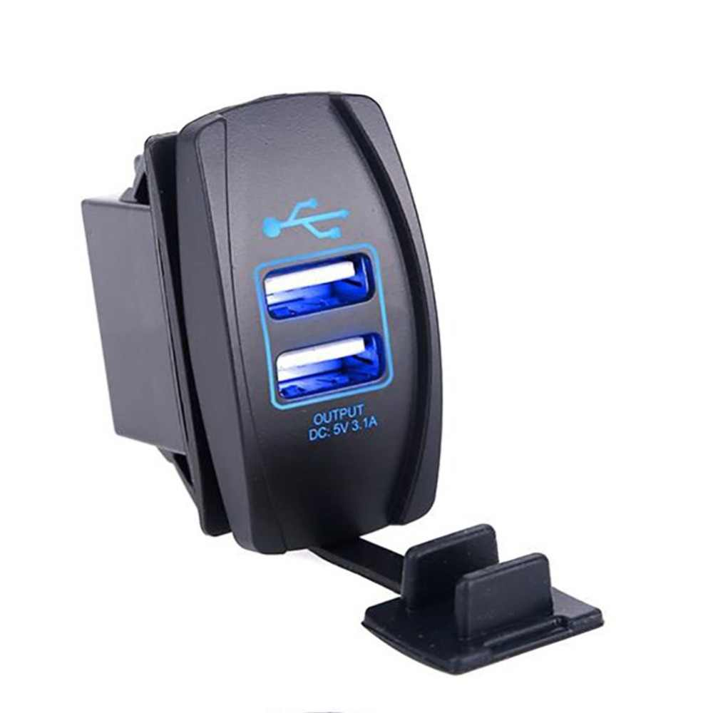 Dual Usb-poorten Power Adapter Outlet Universele Sigarettenaansteker Splitter Charger 3.1A
