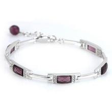 RJ168 925 pulsera de plata esterlina, 925 joyas de plata de moda Púrpura Pulsera de Cristal/ajsajaza bomakfta