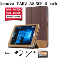 For Lenovo TAB 2 A8-50 holster A8-50F 8 inch tablet A8-50LC cases protection shell collar for a horse Tablets case +film+pen+otg