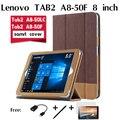 Para lenovo tab 2 a8-50 coldre a8-50f 8 polegada tablet A8-50LC casos de proteção shell colar por um cavalo Tablets caso + filme + caneta + otg