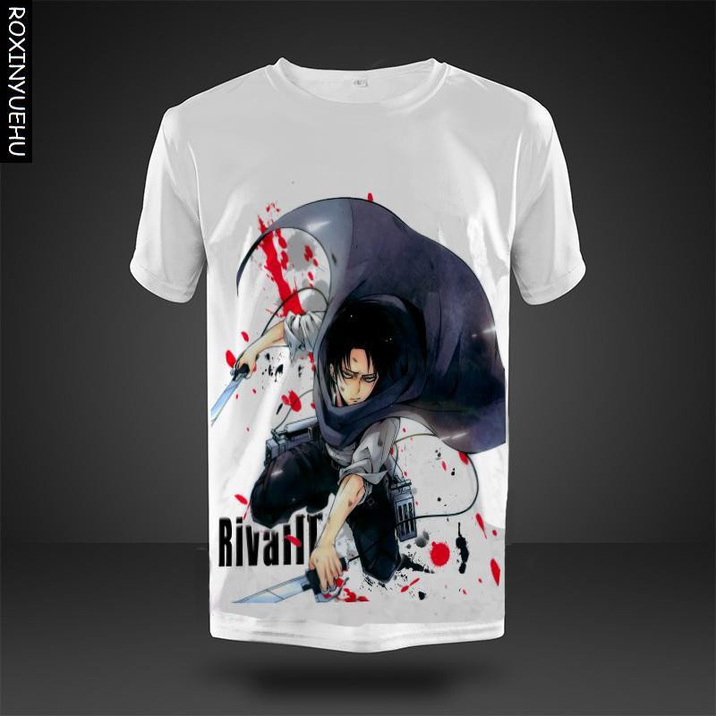 ecf29b371 ROXINYUEHU Anime T camisa Shingeki no Kyojin Scouts legión Tops ataque en  Titán manga corta Camisetas envío gratuito DT013 en Camisetas de La ropa de  los ...