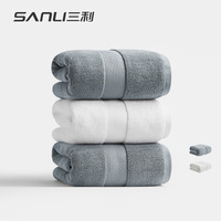 SANLI 100% Cotton beach towel Terry bathroom 80*160cm 750g Anti bacteria Thick Luxury Solid for SPA Bath Towels for Adults