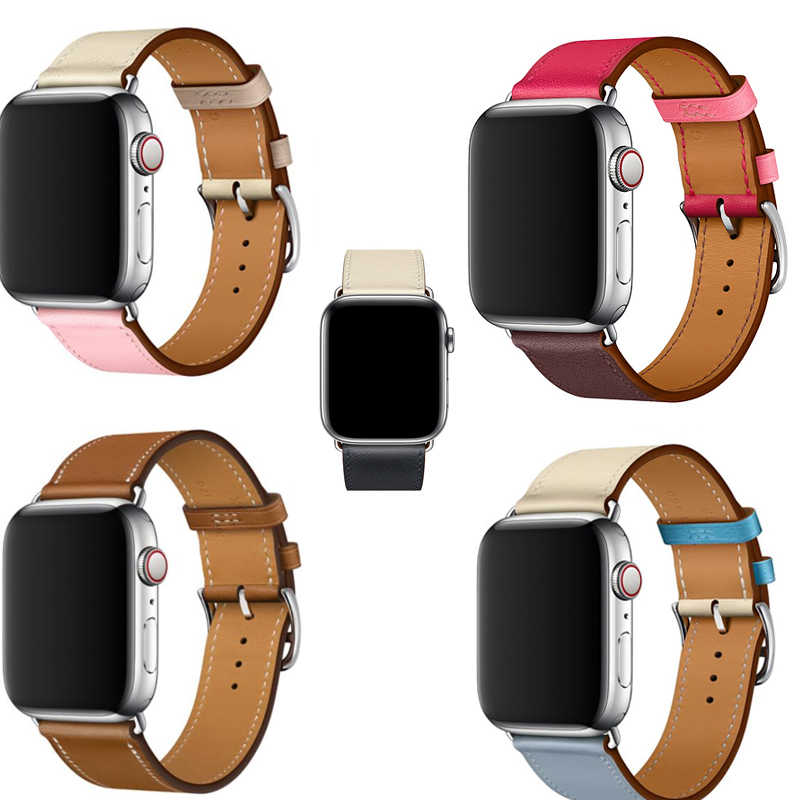 newest Genuine Leather strap for apple watch band 42mm/38mm/44mm/40mm for iwatch wristband series 4 3 2 1 single tour belt