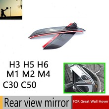 2PCS Hot Sale Rearview Mirror Cove for Great Wall Hover H3 H5 H6 M1 M4 M2 C30 C20R C50 Car Stickers Car Styling Car Accessories