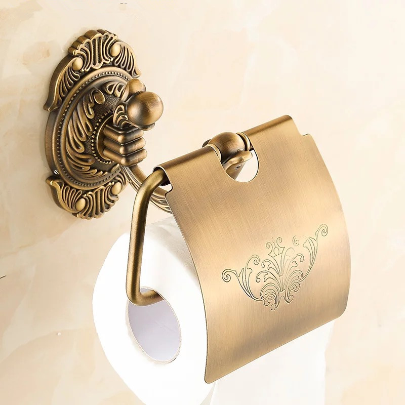 Bathroom accessories antique luxury brass Toilet Paper Holder,Roll Holder,Tissue Holder,Solid Brass paper holder in bathroom 850 antique carved toilet paper holder brushed tissue holder carton solid brass bathroom accessories wall mounted bathroom products