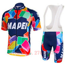 2016 Throwback Mapei Retro Cycling Jersey dry summer short sleeve mtb clothing and clothing ciclismo racing bike cycling tights(China)