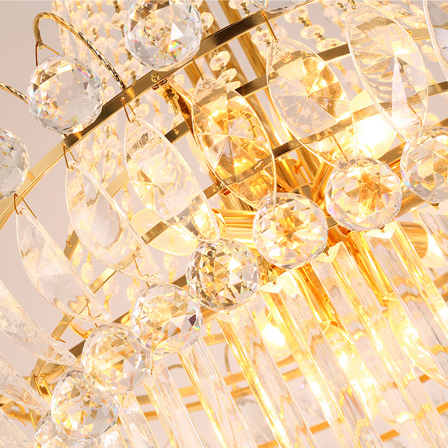Luxury Golden Spiral Crystal Chandelier