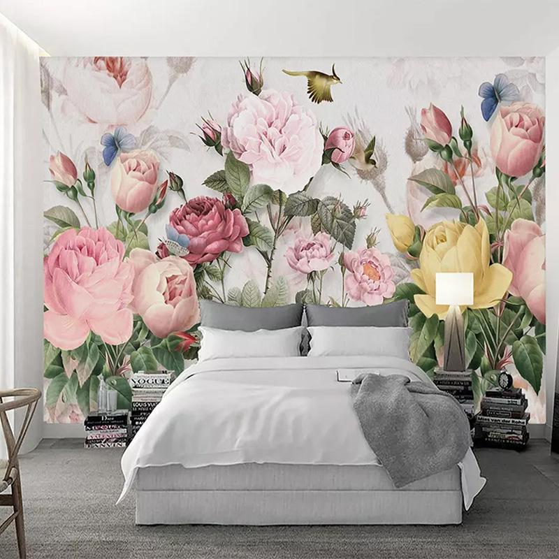 Photo Wallpaper 3D Flowers Murals European Style Pastoral Landscape Wall Paper For Walls 3 D Living Room Bedding Room Home Decor