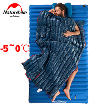 Naturehike Camp Trip single Goose Down Sleeping Bags for -5-0 Cold Winter sleeping bag Warm light Splicable Envelope Sleep Bag