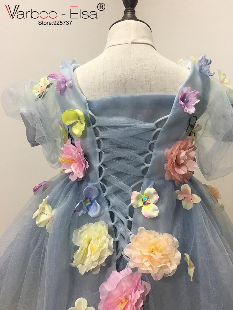 VARBOO_ELSA 2017 Flower Girls Jurken voor bruiloften custom Blue - Bruiloft feestjurken - Foto 6