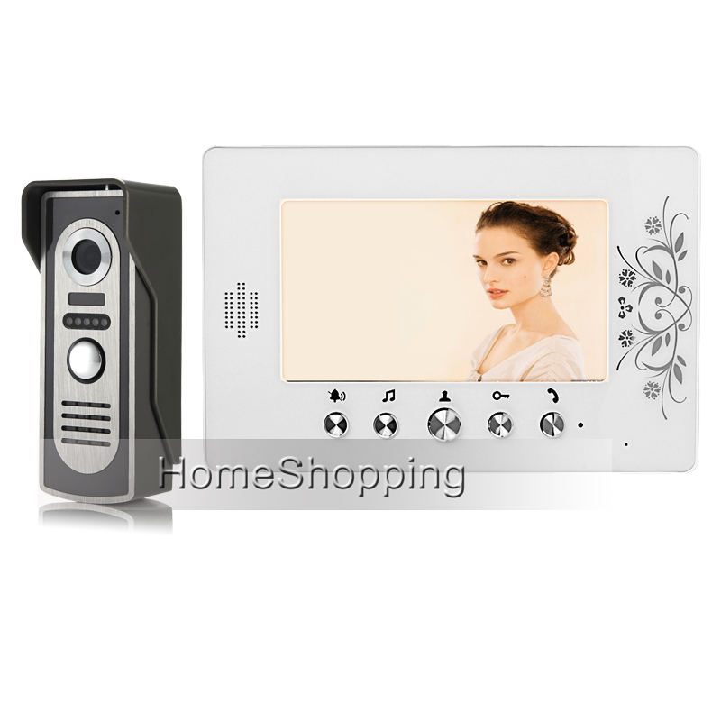 FREE SHIPPING New Wired 7 TFT Color Video Intercom Door Phone System White Screen + Outdoor Doorbell Camera Whole sale In Stock pic microcontroller development board the experimental board pic18f4520 including pickit2 programmers excluding books
