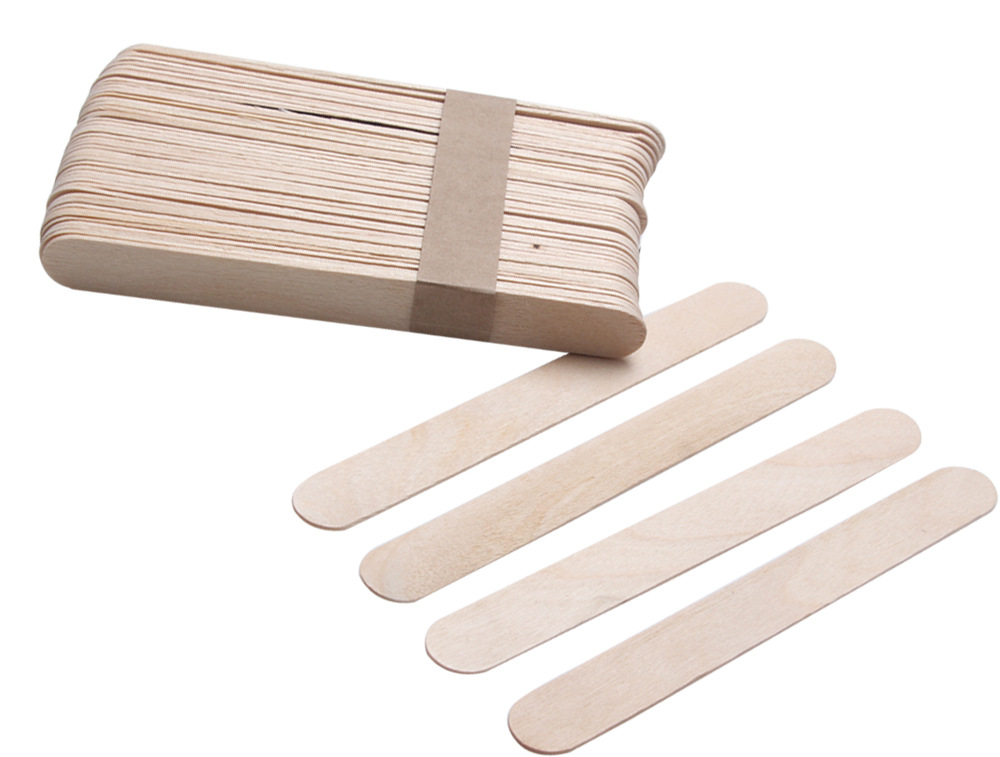 20PCS/Lot Wooden Spatulas Body Hair Removal Sticks Wax Waxing Disposable Sticks Pearl Wax Tool Mask Mud Wiping Sticks