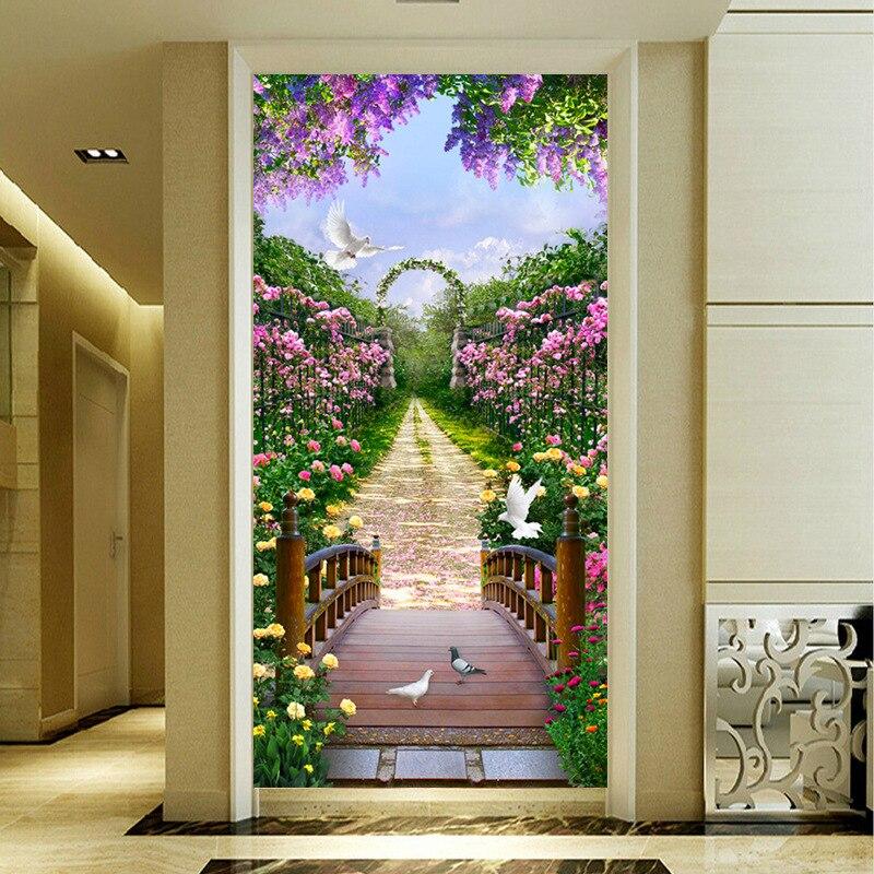 Grande peinture diamant 5D, bricolage, point de croix diamant collé, Boulevard fleurs, paysage, Kit de broderie diamant, décoration