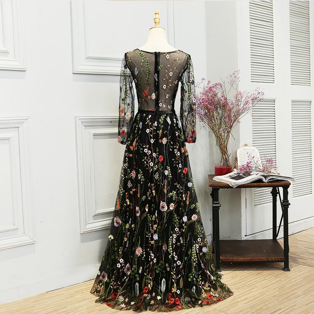 SOCCI Weekend Elegant Evening Dress Embroidery Bunga Lengan Panjang - Gaun acara khas - Foto 2
