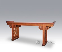 The Real Talent Phoenix With Top Flanges Chinese Head Desk Classical Furniture Burma Rosewood Court Office Table Worship Desks