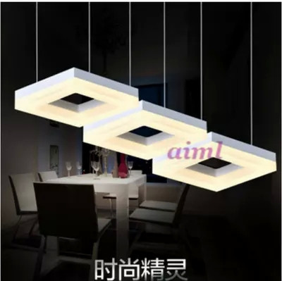 New beautiful LED droplight rectangle art lights sitting room lights acrylic contemporary and contracted absorb dome light l